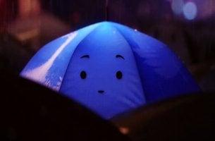 blue animated umbrella