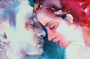 Couple Rubbing Faces