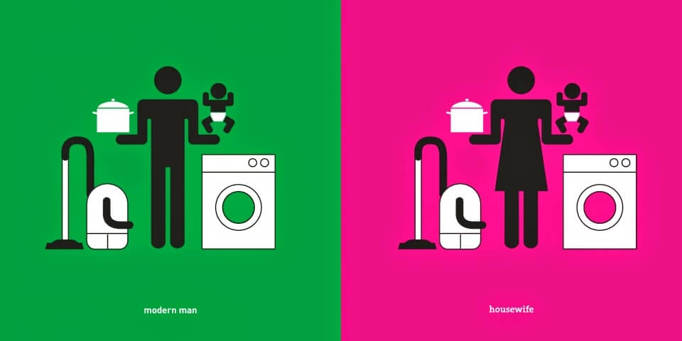 modern man and housewife