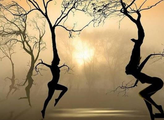 Tree Women Silhouettes