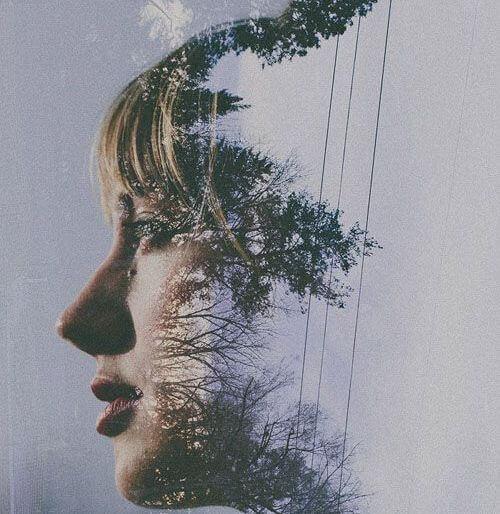 profile of a woman tree