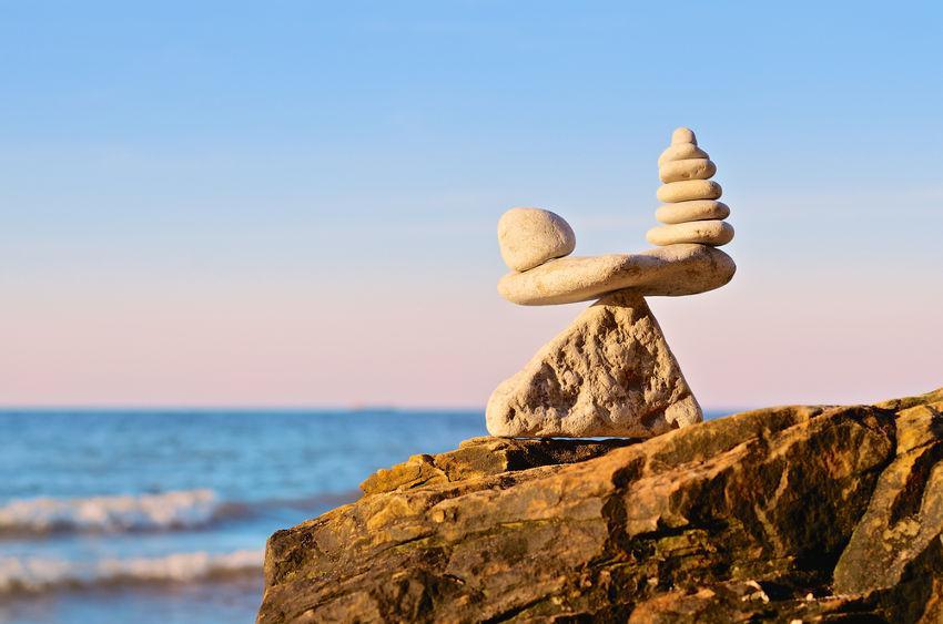 rocks piled up balanced