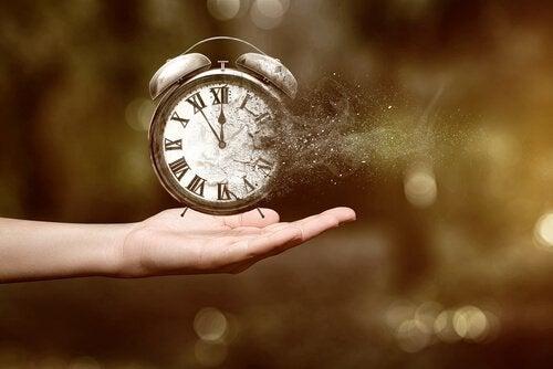 Clock Dissolving in Hand