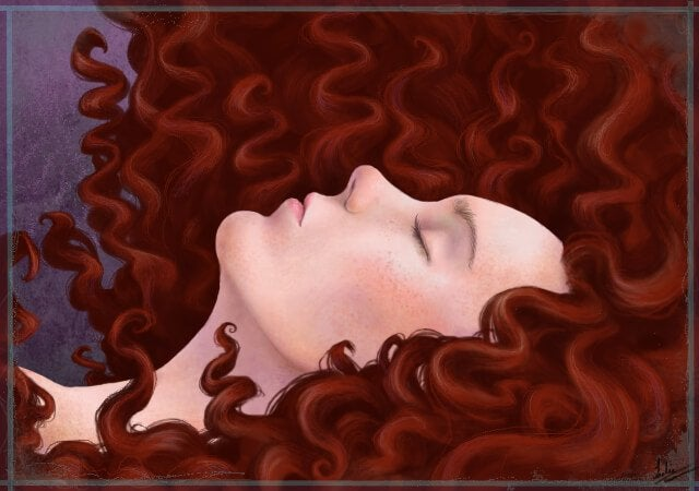 Redheaded Woman Sleeping