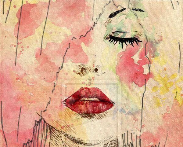 watercolor portrait of woman