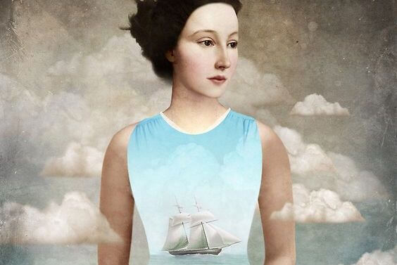 woman with a ship shirt