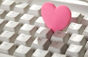 heart in keyboard