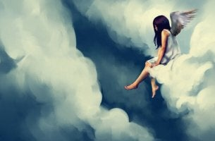 Angel Sitting on Cloud