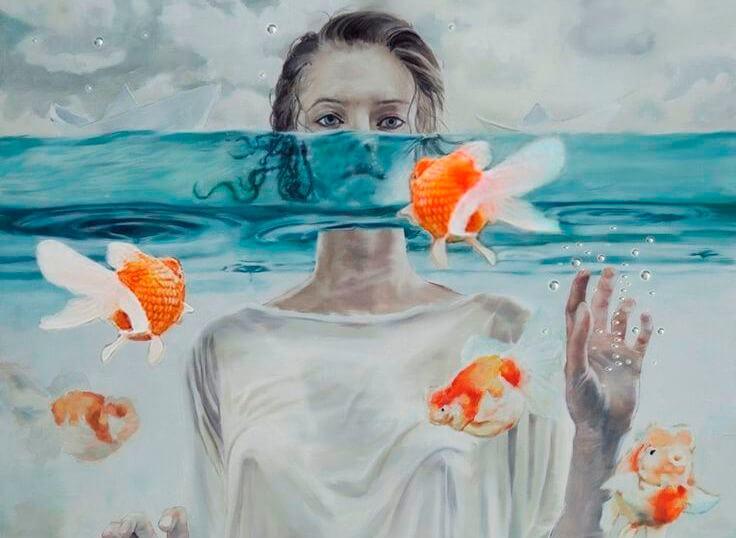 woman fish