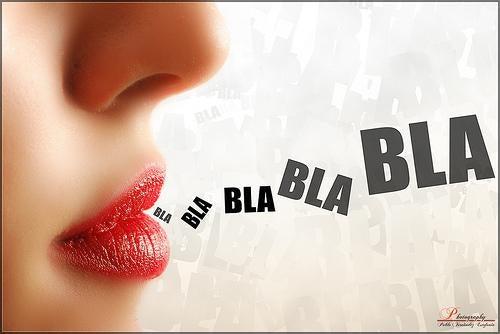woman talking blah