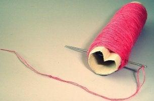 needle thread heart