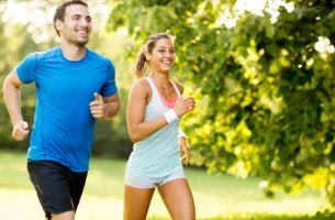 couple getting exercise