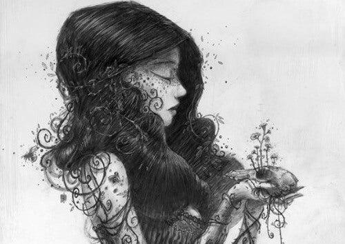 흑백의 여인 그림