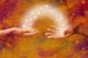 light between hands