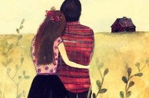 Couple Side Hug