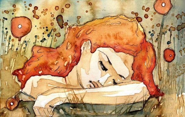 sad-girl-orange-watercolor