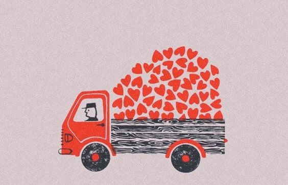 truck full of hearts