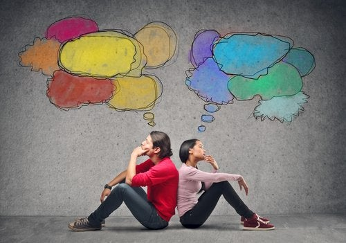 two people thinking