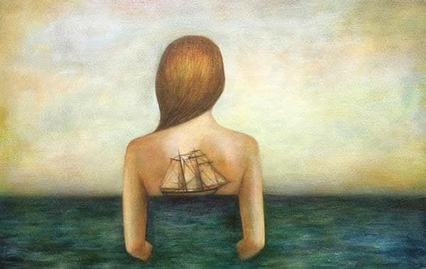kvinne og hav