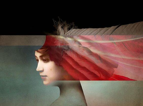 빨간 줄무늬의 여인