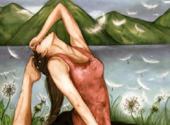 yoga ved fjellet