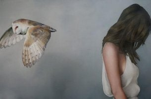 girl owl lonely
