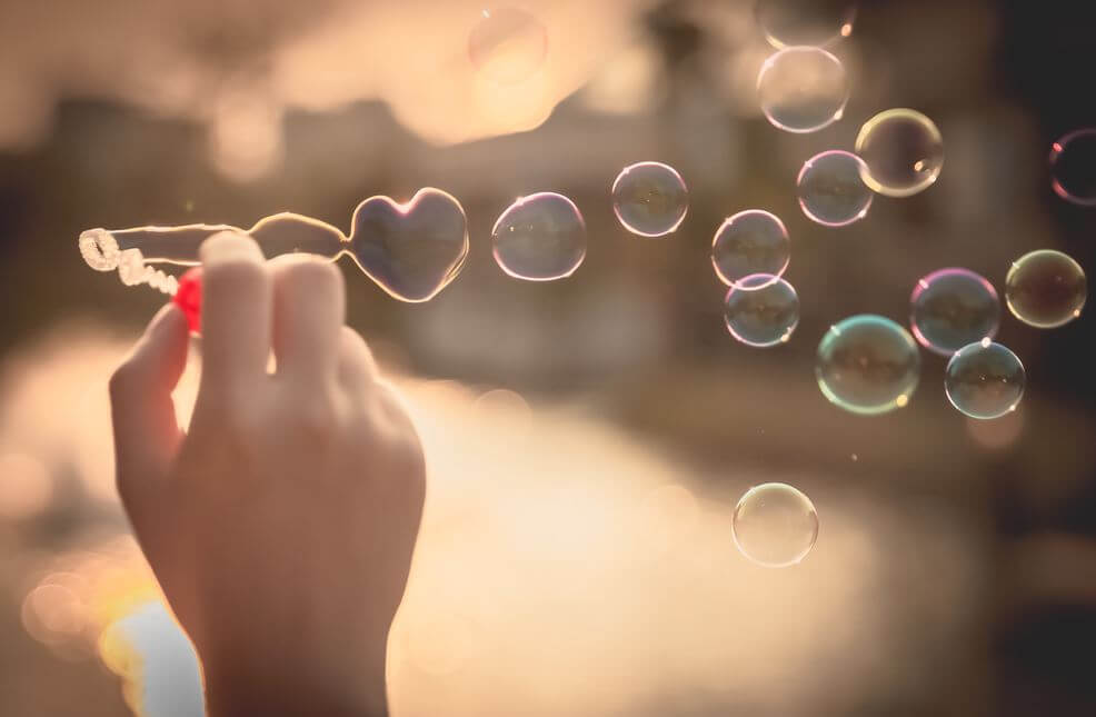 Hand Making Bubbles