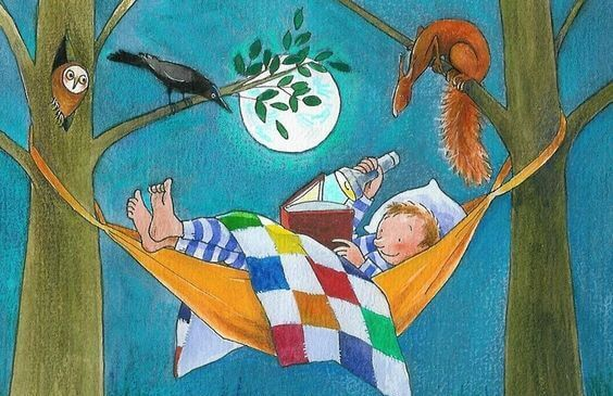 boy-reading-in-a-hammock