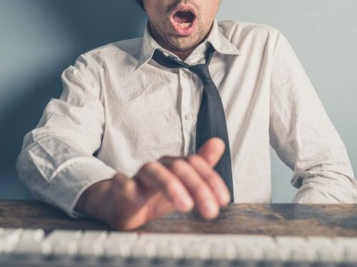 man masturbating at work