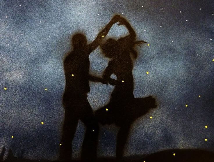 Silhouettes Dancing
