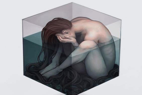 sad-naked-woman-in-cube