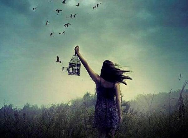 setting birds free