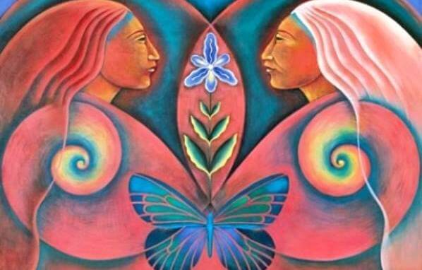 two-women-butterfly