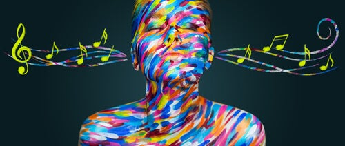 colorful-woman-listening-to-music