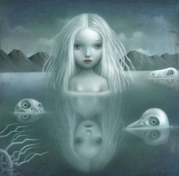 creepy girl in water