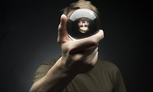 man with a crystal ball