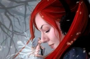 Fairy Kissing Woman's Nose
