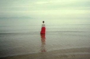 Woman Standing in Sea