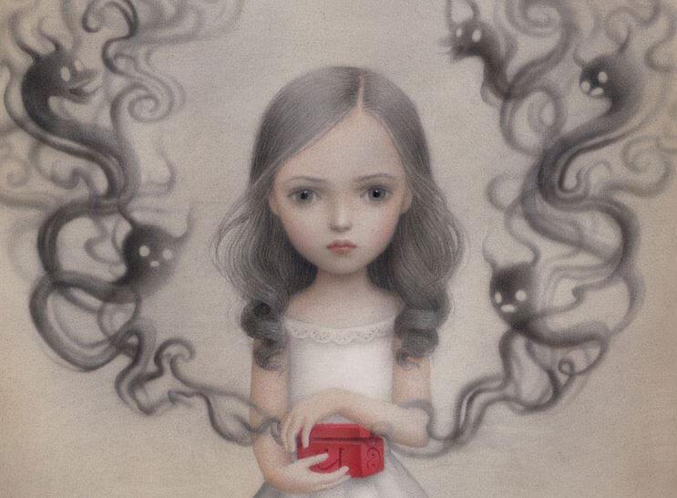 Girl Opening Pandora's Box