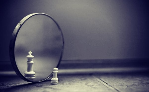 pawn looking in the mirror