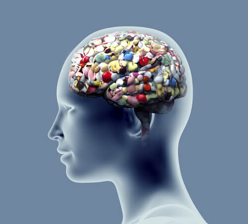 profiles-of-a-head-with-a-brain-full-of-pills