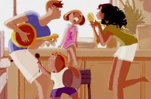 family-singing-at-home