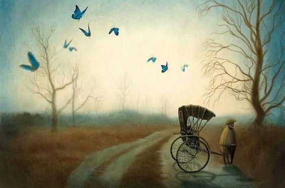 man with wagon