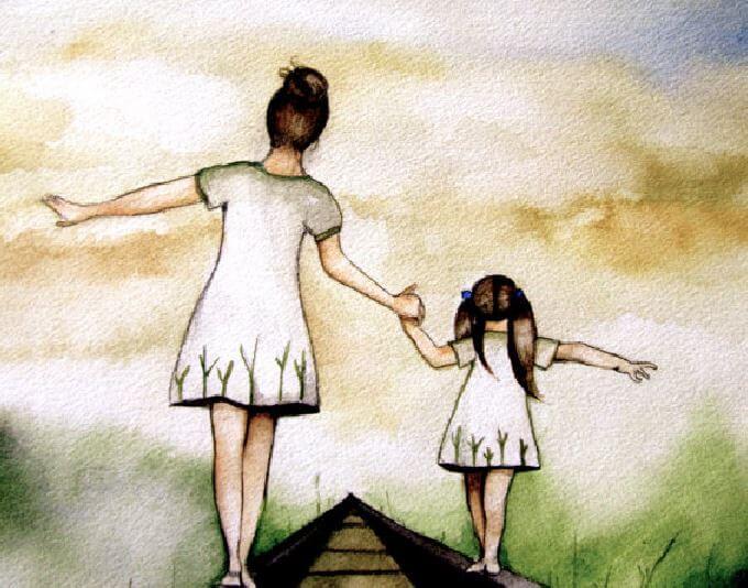 엄마의 고통을 안고 사는 것은 아이에게 힘들다