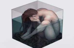sad-woman-in-cube-of-water