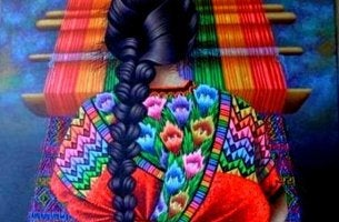 woman-knitting-with-colorful-thread