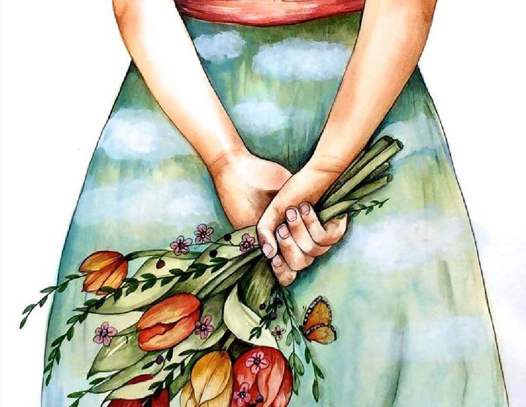 woman-with-a-bouquet-of-flowers