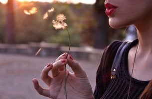 blowing dandelion
