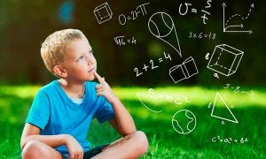 boy thinking about equations