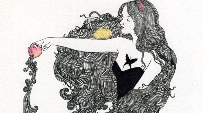 머리가 긴 여자